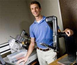 Autonomous robot detects shrapnel
