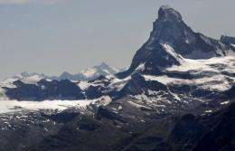 A view of the Swiss Alps at Matterhorn