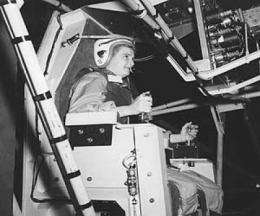 A woman in space