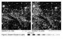 Brown economists measure GDP growth from outer space