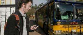 Bus left you waiting in the cold? Use your cell phone to track it down