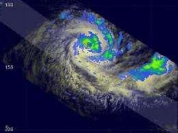 Cyclone Anja hits wind shear, weakens drastically