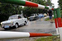 East German Trabant cars