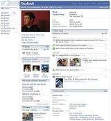 Facebook.com founder Mark Zuckerberg's profile page