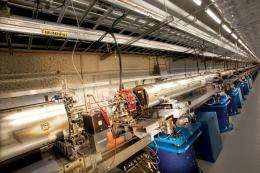 First Pump-Probe Experiment at LCLS Completed