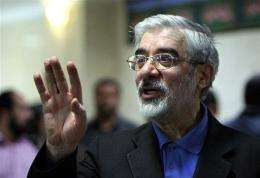 Former Iranian premier Mir Hossein Mousavi
