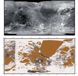 Scientists complete first geological global map of Jupiter's satellite Ganymede
