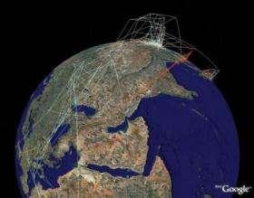 Google Earth Supermap of Avian Flu