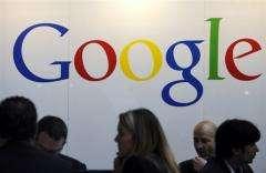 Google logo is seen at a trade fair in Frankfurt