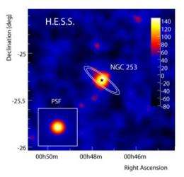 Heart of a galaxy emits gamma rays