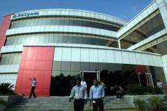 Indian software company Satyam's headquarters in Hyderabad