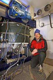 Iowa State scientist develops lab machine to study glacial sliding related to rising sea levels