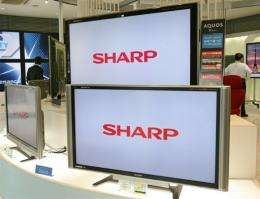 Japanese electronics giant Sharp Corp. forecast a net loss of 130 billion yen (1.3 billion dollars)