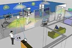 LED lights build communication network
