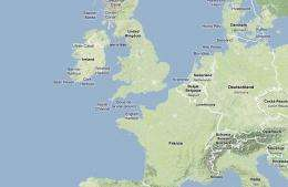 Map - France - UK