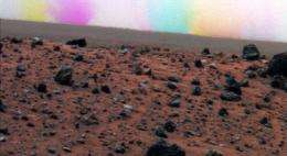 Mars Dust Devil Has Colorful Effect in Image Series
