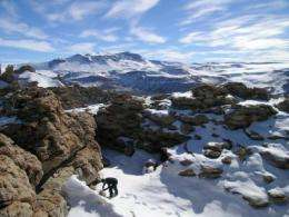 Mountaintop Soil Sample in Antarctica