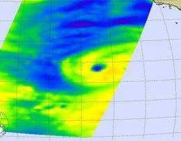 NASA microwave image sees eyewall opening in Hurricane Linda