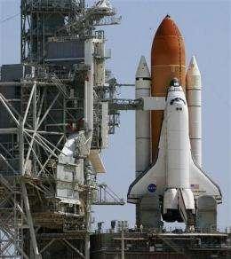 NASA repairing leak on space shuttle fuel tank (AP)