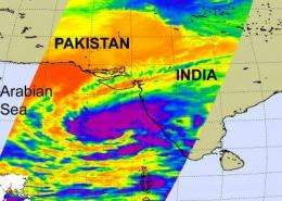 NASA sees high thunderstorms in newly formed Tropical Cyclone 4A near India