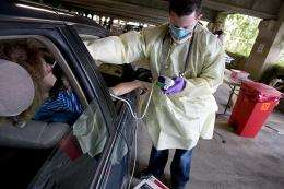 Stanford Hospital does nation's first drive-through pandemic exercise