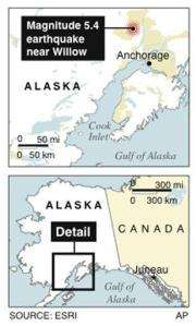 Strong earthquake jolts Anchorage, Alaska (AP)