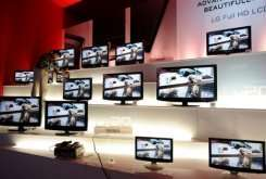 Television displays are seen at the annual Consumer Electronics Show in Las Vegas