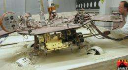 Test Mars Rover Checks Pivoting Technique
