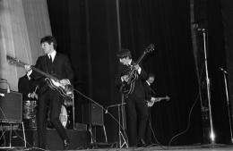 The Beatles perform in 1964 at the Olympia in Paris