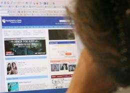 The MySpace website