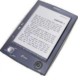 The new Sony Reader ebook.