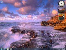 This undated handout image courtesy of Microsoft, shows a screenshot of a desktop background for Microsoft Windows 7