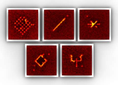 A quantum pen for single atoms