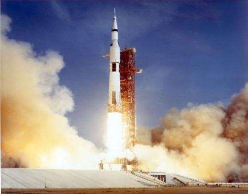 File photo shows that Apollo 11 space shuttle lifting off from the Kennedy Space Centre on July 16, 1969