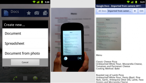 Google releases a doc scanning and editing app for Android