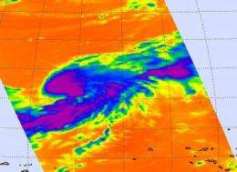 Infrared NASA satellite imagery confirmed newborn Tropical Storm Sonca