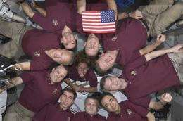 Last space shuttle crew bids historic goo
