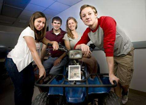 Virginia Tech students develop child-proof ignition safety lock for adult-sized ATVs
