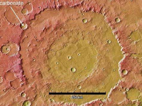 Mars' missing carbon dioxide may be buried