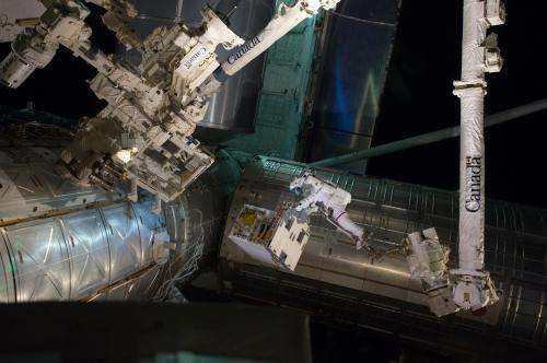 Robotic refueling module, soon to be relocated to permanent space station position