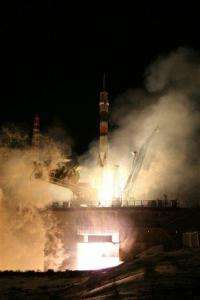 Russian spacecraft delivers 3 to orbiting station (AP)