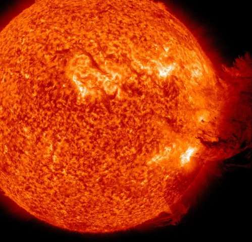 Solar storms could 'sandblast' the moon