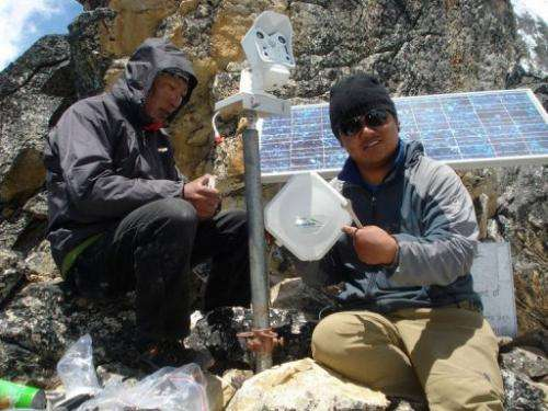 The solar-powered camera will beam real-time footage of Everest from the nearby peak