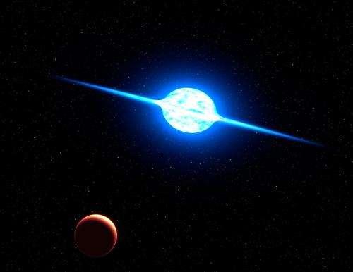 VLT finds fastest rotating star