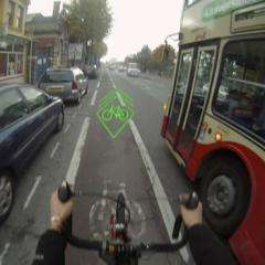 University of Brighton design students makes biking safer with BLAZE projection system