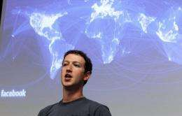 Facebook CEO Mark Zuckerberg speaks during a news conference