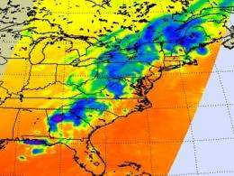 NASA infrared satellite sees severe weather in northwest Georgia
