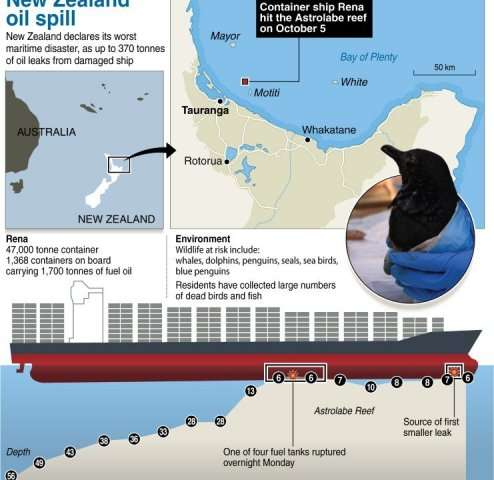 New Zealand oil spill