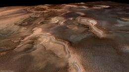 Springtime at Mars' south pole