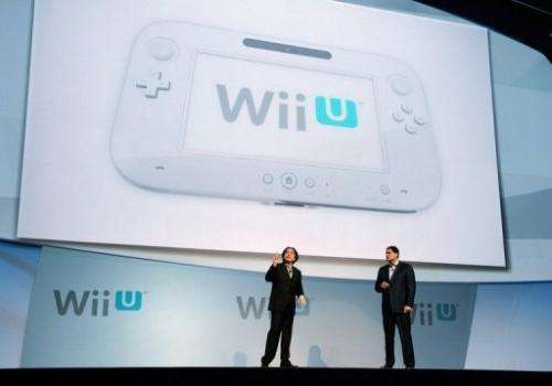The unveiling of the new game console Wii U at the Electronic Entertainment Expo in Los Angeles